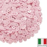 Пайетки Италия лаковые 5 мм цвет Rosa (нежно-розовый глянец) 3 грамма 060527 - 99 бусин