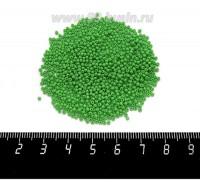 Бисер Чехия натуральный, непрозрачный светло-зеленый, размер 13, артикул 53230, 5 грамм 060542 - 99 бусин