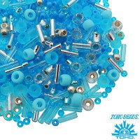 Бисер TOHO Beads Mix, цвет 3223 Aozora - Blue/Silver, 10 грамм/упаковка 060566 - 99 бусин