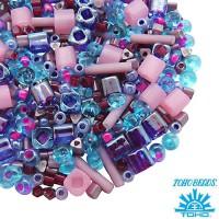 Бисер TOHO Beads Mix, цвет 10 Purple/Blue, 10 грамм/упаковка 060567 - 99 бусин