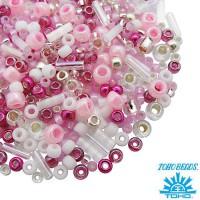 Бисер TOHO Beads Mix, цвет 3214 Sakura- Cherry, 10 грамм/упаковка 060568 - 99 бусин