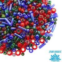Бисер TOHO Beads Mix, цвет 3226 Shousei- Red/Green/Blue, 10 грамм/упаковка 060572 - 99 бусин