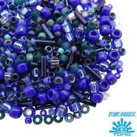 Бисер TOHO Beads Mix, цвет 3224 Mahou- Blue/Green, 10 грамм/упаковка 060575 - 99 бусин