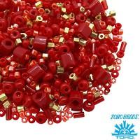 Бисер TOHO Beads Mix, цвет 06 Red2, 10 грамм/упаковка 060578 - 99 бусин