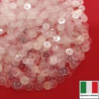 Пайетки Италия LUSTRE 3 мм прозрачные бесцветные 3 грамма 060633 - 99 бусин