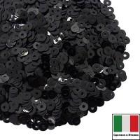 Пайетки Италия LUSTRE 3 мм Nero (чёрный) 3 грамма 060636 - 99 бусин