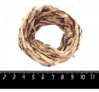 Синель Италия Mafil 3 мм, цвет Noce - ореховый, 5 метров/упаковка 060653 - 99 бусин