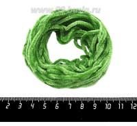 Синель Италия Mafil 3 мм, цвет Mela зеленый, 5 метров/упаковка 060658 - 99 бусин