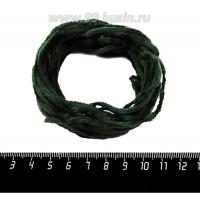 Синель Италия Mafil 3 мм, цвет Verdone - зеленый мох, 5 метров/упаковка 060659 - 99 бусин