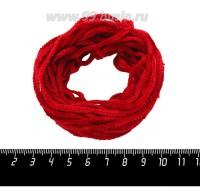 Синель Италия Mafil4 мм, цвет  Rosso - красный, 5 метров/упаковка 060662 - 99 бусин