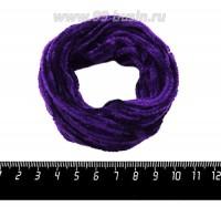 Синель Италия Mafil 4 мм, цвет Viola - фиолетовый, 5 метров/упаковка 060665 - 99 бусин