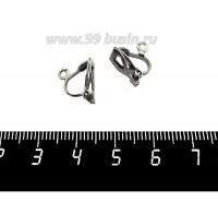 Основа для клипс с петелькой, Маленькая, цвет черный никель, 1 пара 060679 - 99 бусин