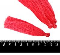 Кисточка 9-9,5 см, цвет коралловый, полиэстр, 6 штук/упаковка 060684 - 99 бусин