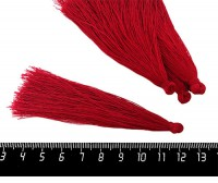 Кисточка 9-9,5 см, цвет рубиновый, полиэстр, 6 штук/упаковка 060688 - 99 бусин