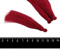 Кисточка 9-9,5 см, цвет вишневый, полиэстр, 6 штук/упаковка 060689 - 99 бусин