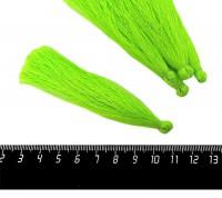 Кисточка 9-9,5 см, цвет неоновый зеленый, полиэстр, 6 штук/упаковка 060694 - 99 бусин