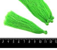 Кисточка 9-9,5 см, цвет зеленый, полиэстр, 6 штук/упаковка 060695 - 99 бусин