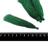 Кисточка 9-9,5 см, цвет темно-зеленый, полиэстр, 6 штук/упаковка 060697 - 99 бусин