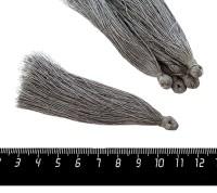 Кисточка 8-8,5 см, цвет серый, полиэстр, 6 штук/упаковка 060700 - 99 бусин