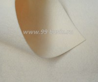 Фетр Гамма Премиум кремовый (804) лист 30*20 см,  толщина 1,2 мм, 1 лист 100% полиэстер, Корея 060704 - 99 бусин