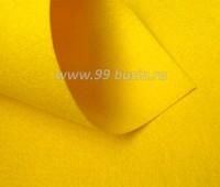 Фетр Гамма Премиум жёлтый (820) лист 30*20 см,  толщина 1,2 мм, 1 лист 100% полиэстер, Корея 060706 - 99 бусин