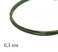 Проволока флористическая, толщина 0,3 мм, цвет зеленый, упаковка 5 штук по 60 см 060726 - 99 бусин