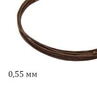 Проволока флористическая, толщина 0,55 мм, цвет коричневый, упаковка 5 штук по 60 см 060733 - 99 бусин