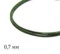 Проволока флористическая, толщина 0,7 мм, цвет зеленый, упаковка 5 штук по 60 см 060735 - 99 бусин