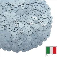 Пайетки Италия лаковые 4 мм цвет Azzurro (нежно-голубой) 3 грамма 060778 - 99 бусин