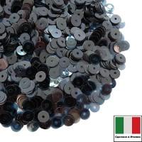 Пайетки Италия LUSTRE 3 мм прозрачные L15 полуночный синий 3 грамма 060785 - 99 бусин