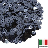 Пайетки Италия LUSTRE 4 мм цвет LUNA (гематит) 3 грамма 060786 - 99 бусин