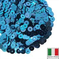 Пайетки Италия METAL 5 мм  цвет M23 ярко-синий 3 грамма 060788 - 99 бусин