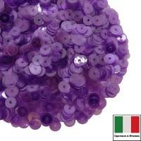 Пайетки Италия LUSTRE 3 мм прозрачные фиолетовые 3 грамма 060789 - 99 бусин
