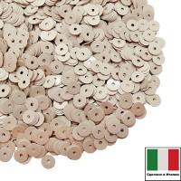 Пайетки Италия лаковые 5 мм цвет Burro (Сливочный) 3 грамма 060790 - 99 бусин