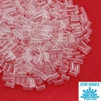 Стеклярус TOHO BUGLE 3 мм № 0001 прозрачный бесцветный 5 граммов Япония 060804 - 99 бусин