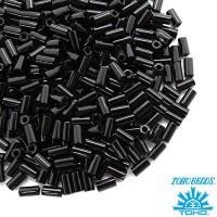 Стеклярус TOHO BUGLE 3 мм № 0049 чёрный 5 граммов Япония 060807 - 99 бусин