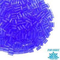 Стеклярус TOHO BUGLE 3 мм № 0942 васильковый прозрачный 5 граммов Япония 060810 - 99 бусин