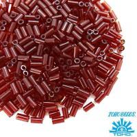 Стеклярус TOHO BUGLE 3 мм № 0005D бордовый прозрачный 5 граммов Япония 060812 - 99 бусин