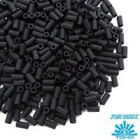 Стеклярус TOHO BUGLE 3 мм № 0049F чёрный матовый 5 граммов Япония 060814 - 99 бусин