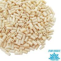 Стеклярус TOHO BUGLE 3 мм № 0051 бежевый 5 граммов Япония 060815 - 99 бусин
