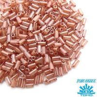 Стеклярус TOHO BUGLE 3 мм № 1067 хрустальный прозрачный, кремовое отверстие 5 граммов Япония 060827 - 99 бусин