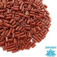 Стеклярус TOHO BUGLE 3 мм № 0046L коричневый 5 граммов Япония 060830 - 99 бусин