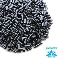 Стеклярус TOHO BUGLE 3 мм № 0081 гематит 5 граммов Япония 060832 - 99 бусин