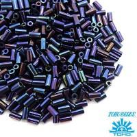 Стеклярус TOHO BUGLE 3 мм № 0082 синий ирис 5 граммов Япония 060833 - 99 бусин