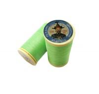 Нитки хлопковые Fil au Chinos Китайский император - 808 зелёный Франция 150 метров/катушка 060837 - 99 бусин