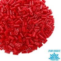 Стеклярус TOHO BUGLE 3 мм № 0045 темно-красный 5 граммов Япония 060839 - 99 бусин
