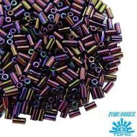 Стеклярус TOHO BUGLE 3 мм № 0085 фиолетовый ирис 5 граммов Япония 060841 - 99 бусин