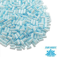 Стеклярус TOHO BUGLE 3 мм № 0124 небесно-голубой перламутр 5 граммов Япония 060846 - 99 бусин