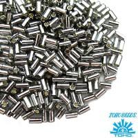 Стеклярус TOHO BUGLE 3 мм № 0029 серый серебристое отверстие 5 граммов Япония 060851 - 99 бусин