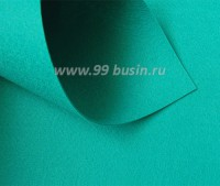 Фетр Гамма Премиум темно-бирюзовый (929) лист 30*20 см, толщина 1,2 мм, 1 лист 100% полиэстер, Корея 060909 - 99 бусин